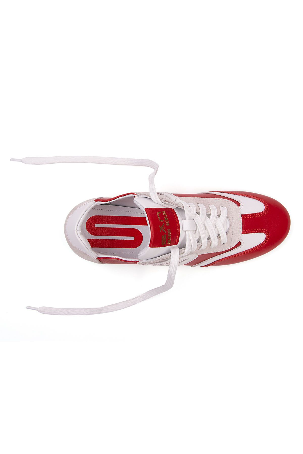 San Women's Leather Sneakers SAN04S Red