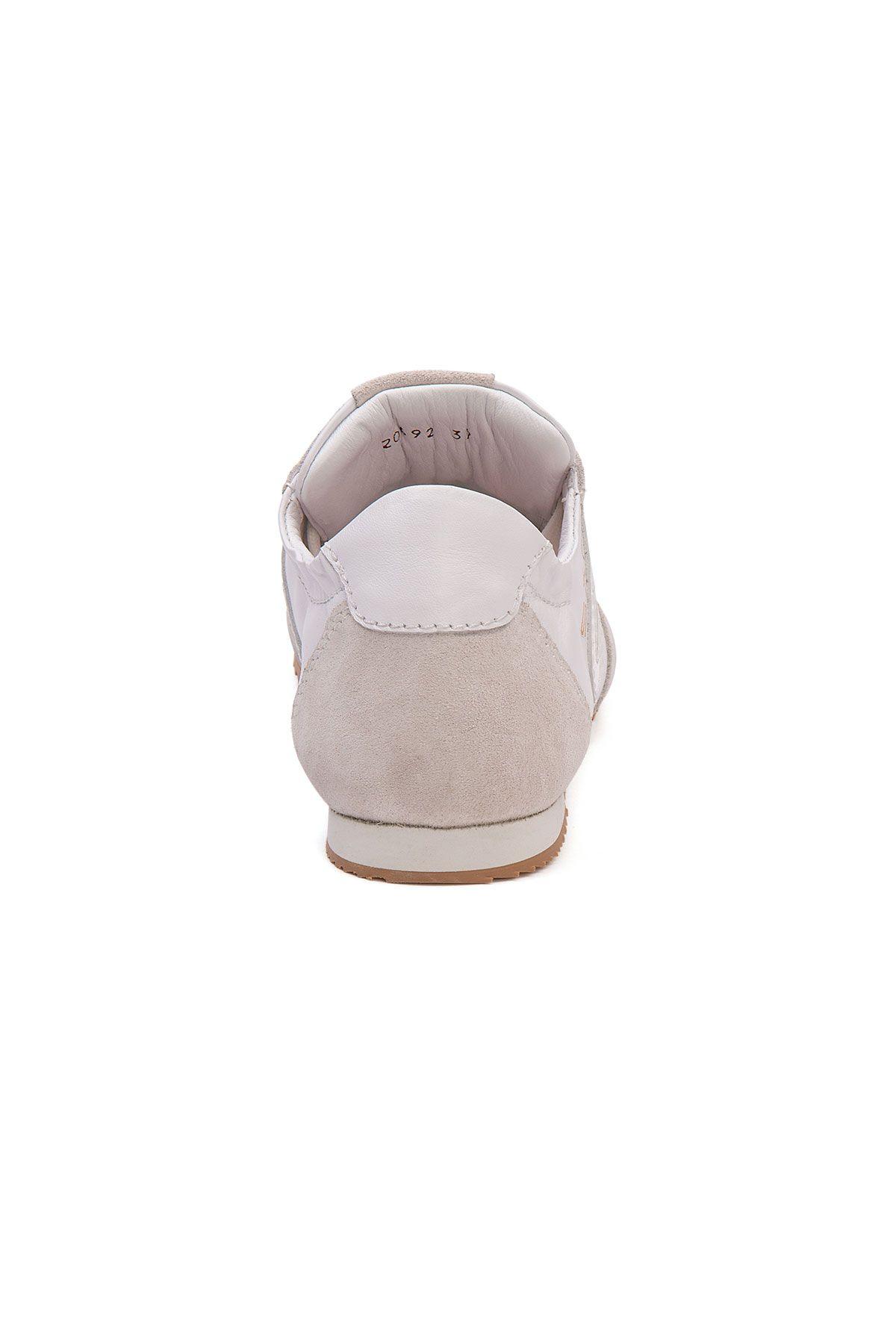 San Women's Leather Sneakers SAN04S White