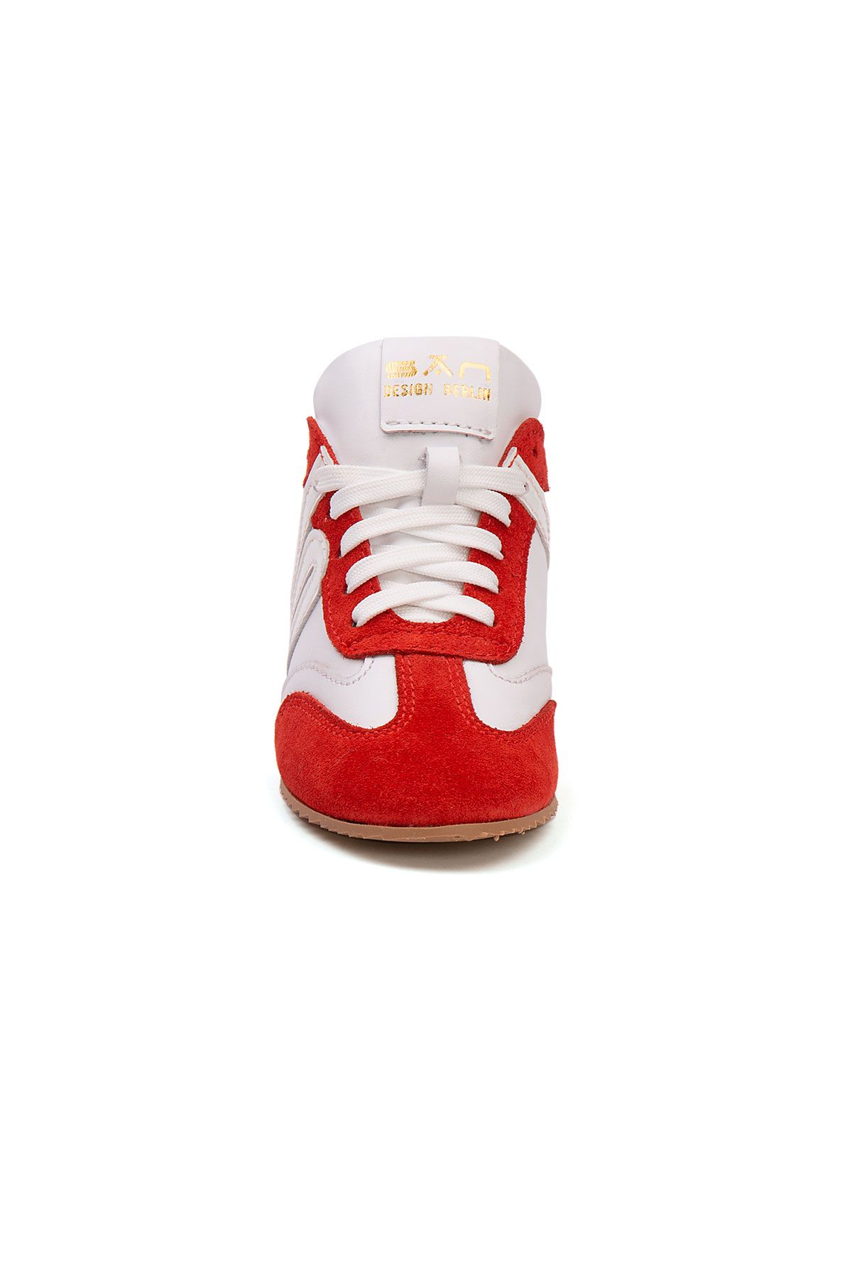 San Women's Leather Sneakers SAN05S Red