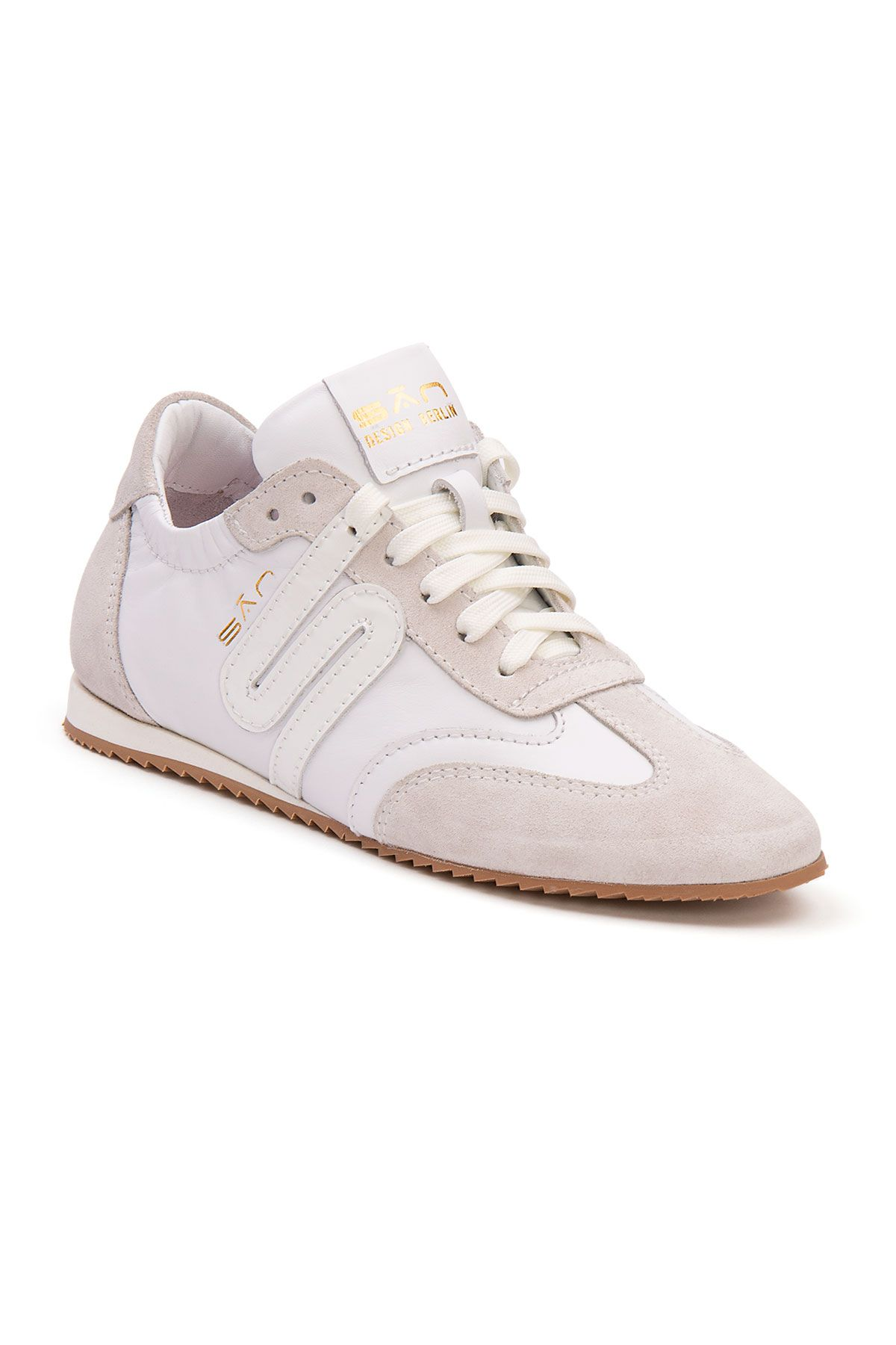 San Women's Leather Sneakers SAN05S White