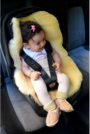 Sheepy Care Sheepskin Car Seat Cushion For Child MDK006 Natural