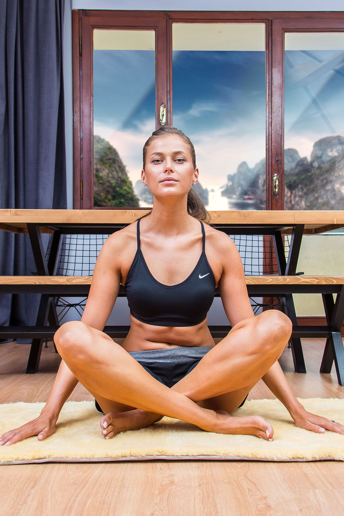 Sheepy Care Medikal Koyun Postu Yoga Minderi MDK021 Naturel
