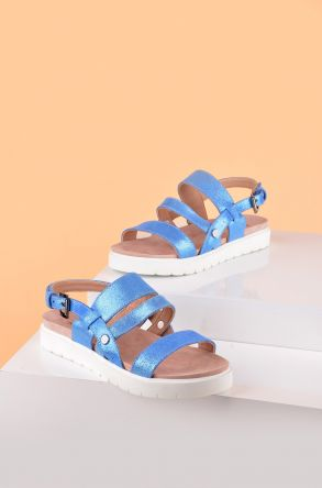 Pegia Gabrielle Women Sandals From Genuine Leather REC-001 Blue