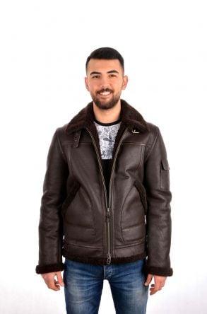 Pegia Мужская Куртка Из Натурального Меха Коричневый