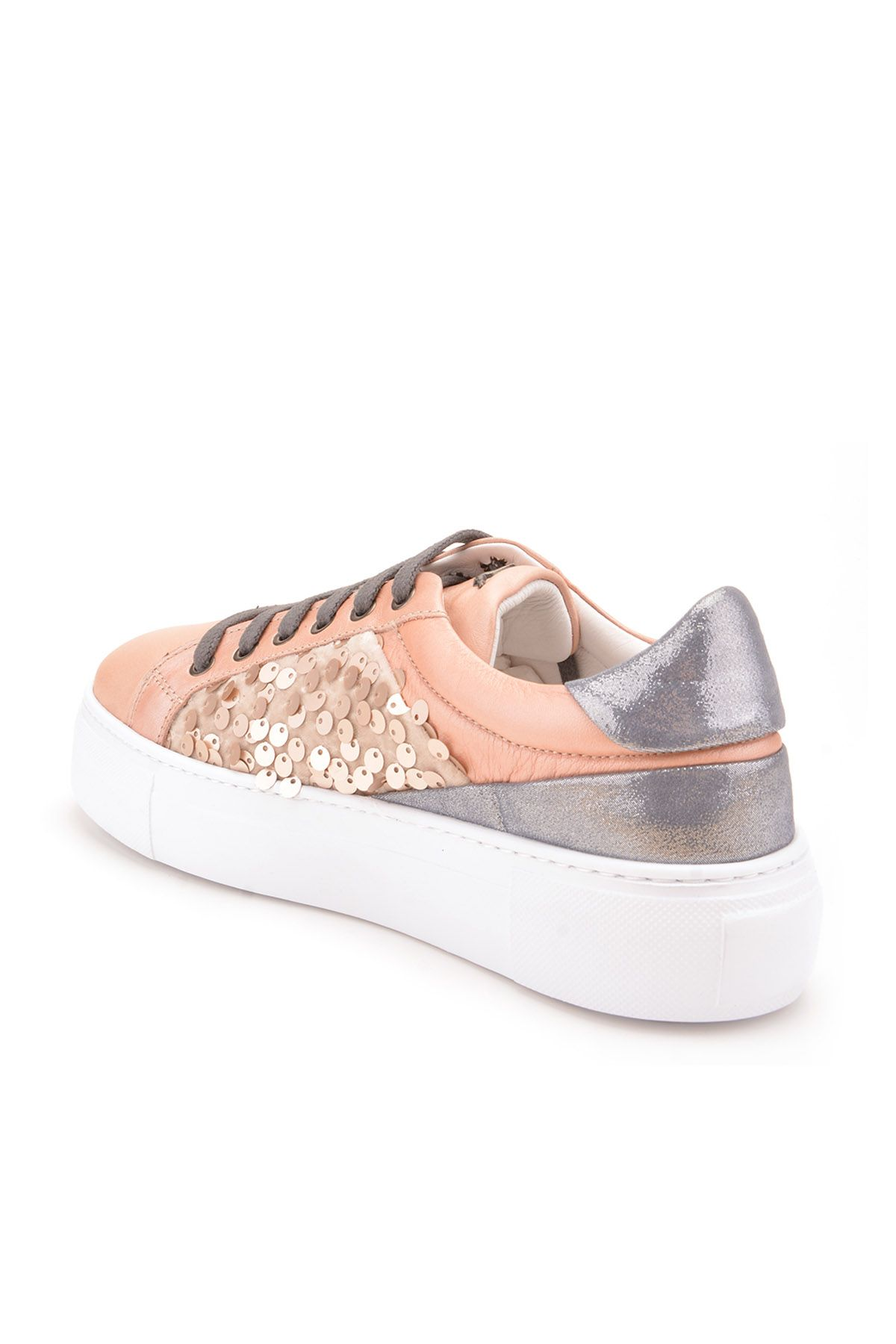 Pegia Blanche Sport Shoes From Genuine Leather REC-002 Powdery
