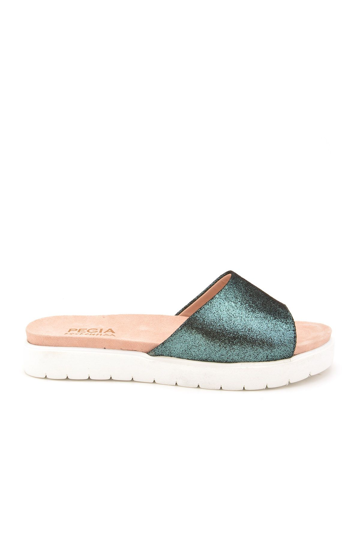 Pegia Drancy Women Slippers From Genuine Leather REC-006 Green