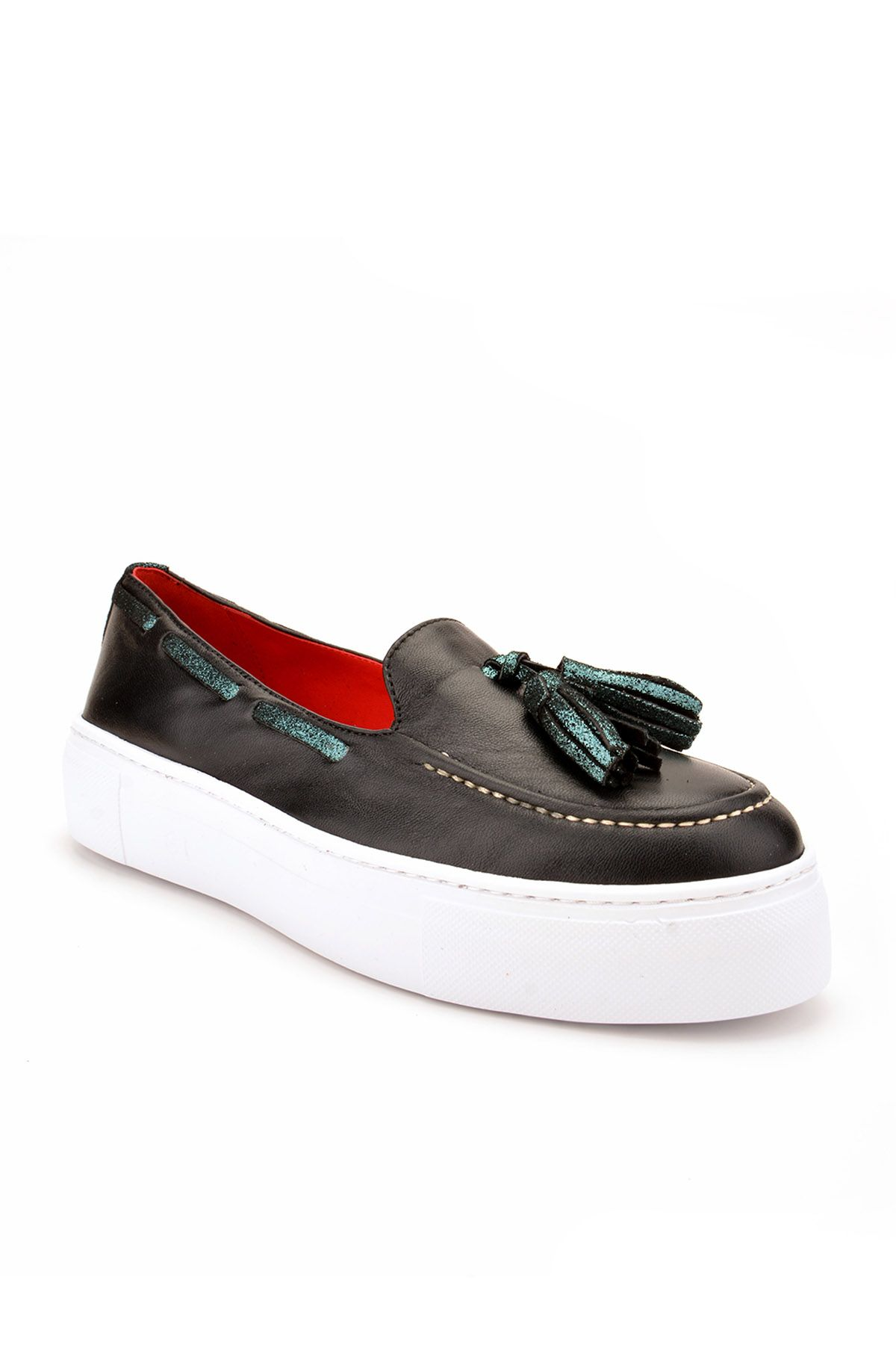 Pegia Pernety Casual Shoes From Genuine Leather REC-010 Black