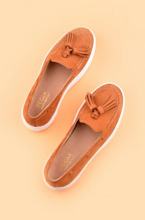 Pegia Pernety Casual Shoes From Genuine Leather REC-010 Ginger