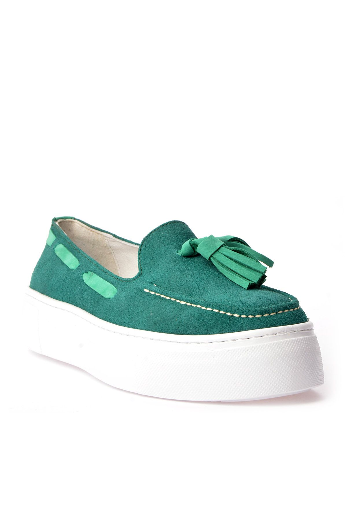 Pegia Pernety Casual Shoes From Genuine Leather REC-010 Green