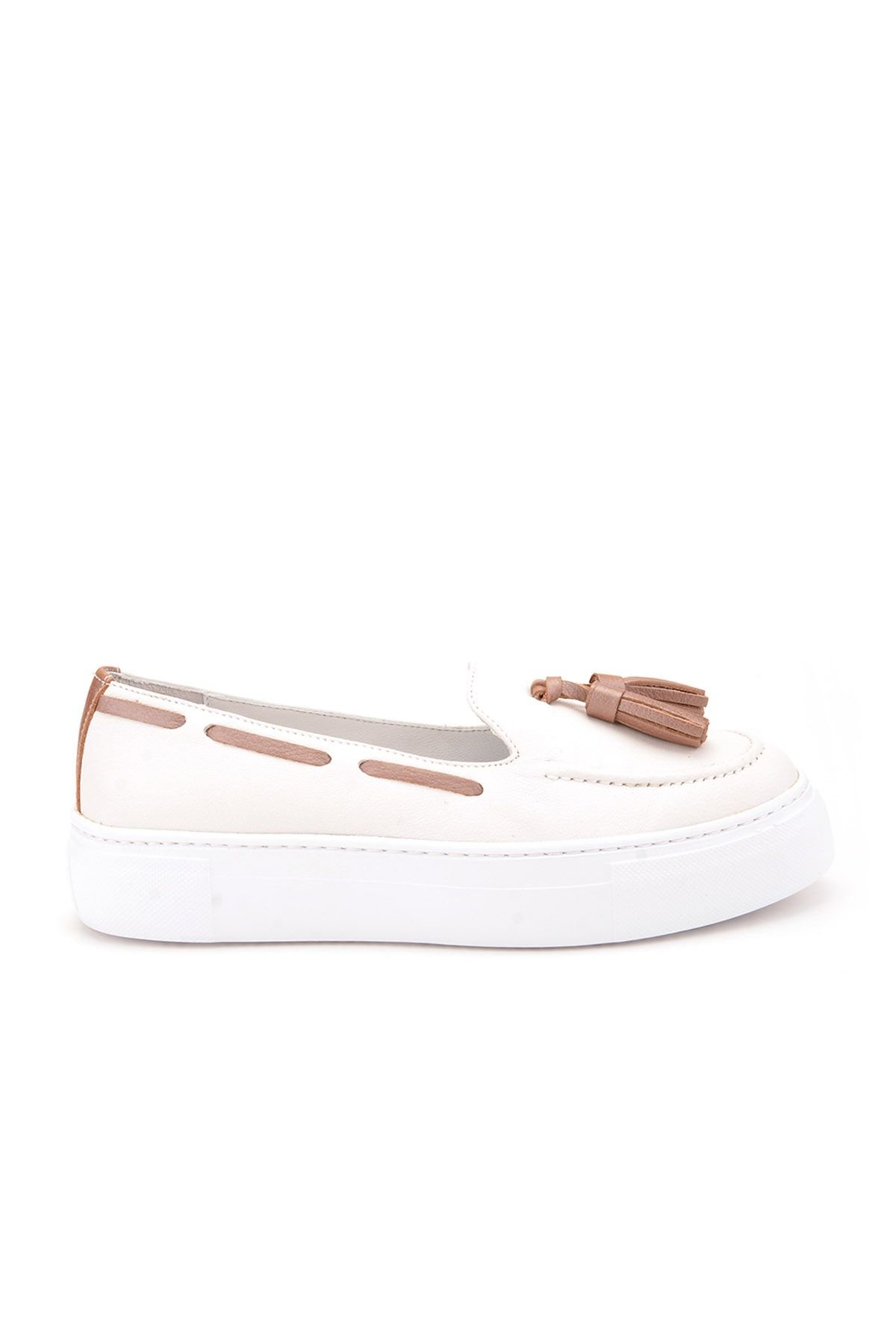 Pegia Pernety Casual Shoes From Genuine Leather REC-010 White