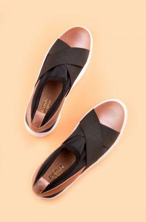 Pegia Voyage Hakiki Deri Bayan Günlük Ayakkabı REC-011 Pudra