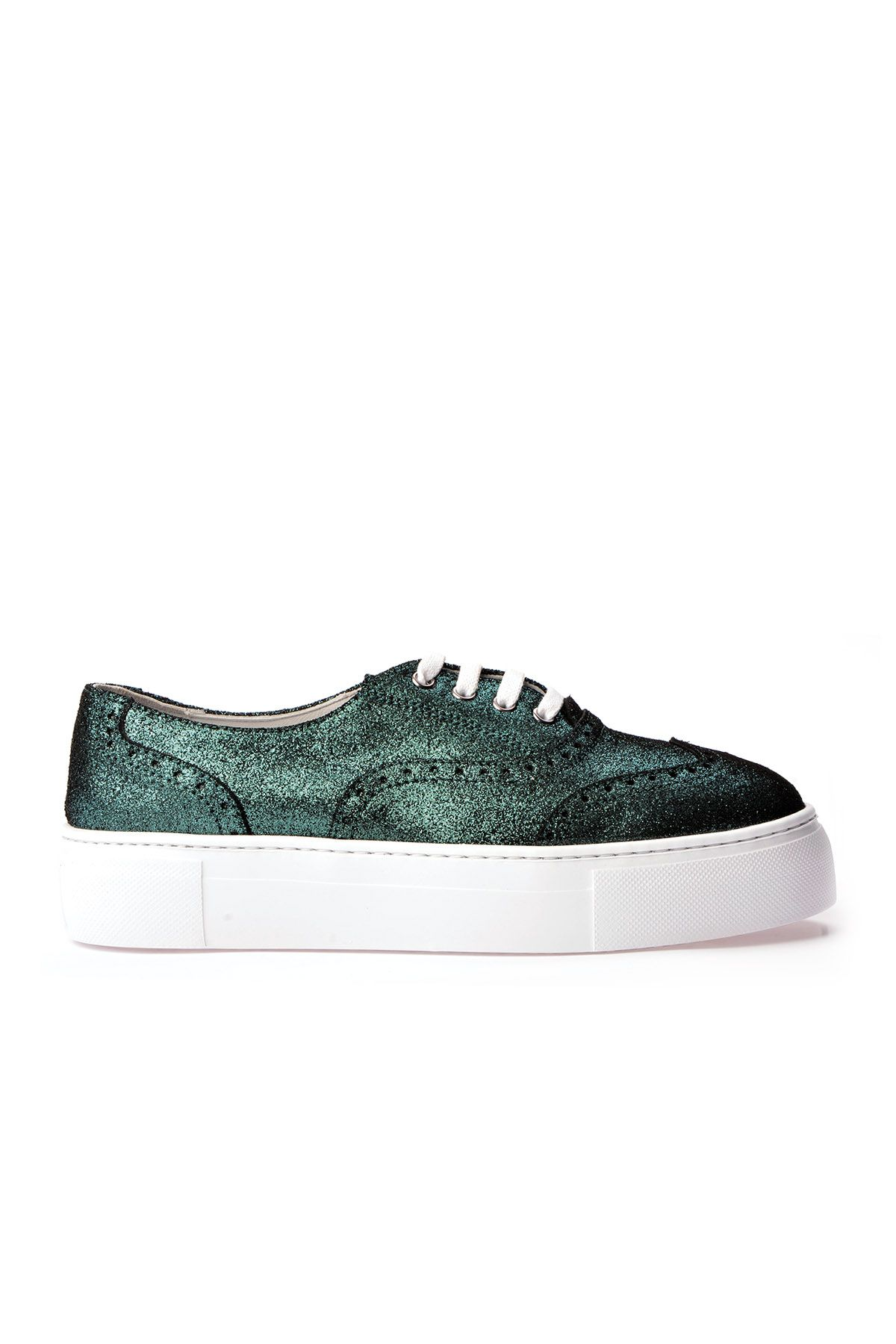 Pegia Chatalet Oxford Shoes From Genuine Leather REC-014 Green