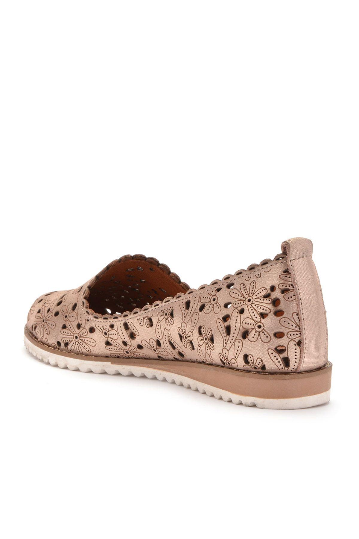 Pegia Открытая Женская Обувь Из Натуральной Кожи REC-141 Бронзовый