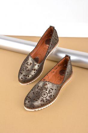 Pegia Hakiki Deri Bayan Ayakkabı REC-141 Siyah