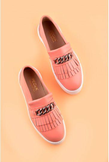 Pegia Sertier Hakiki Deri Bayan Günlük Ayakkabı REC-003 Pembe