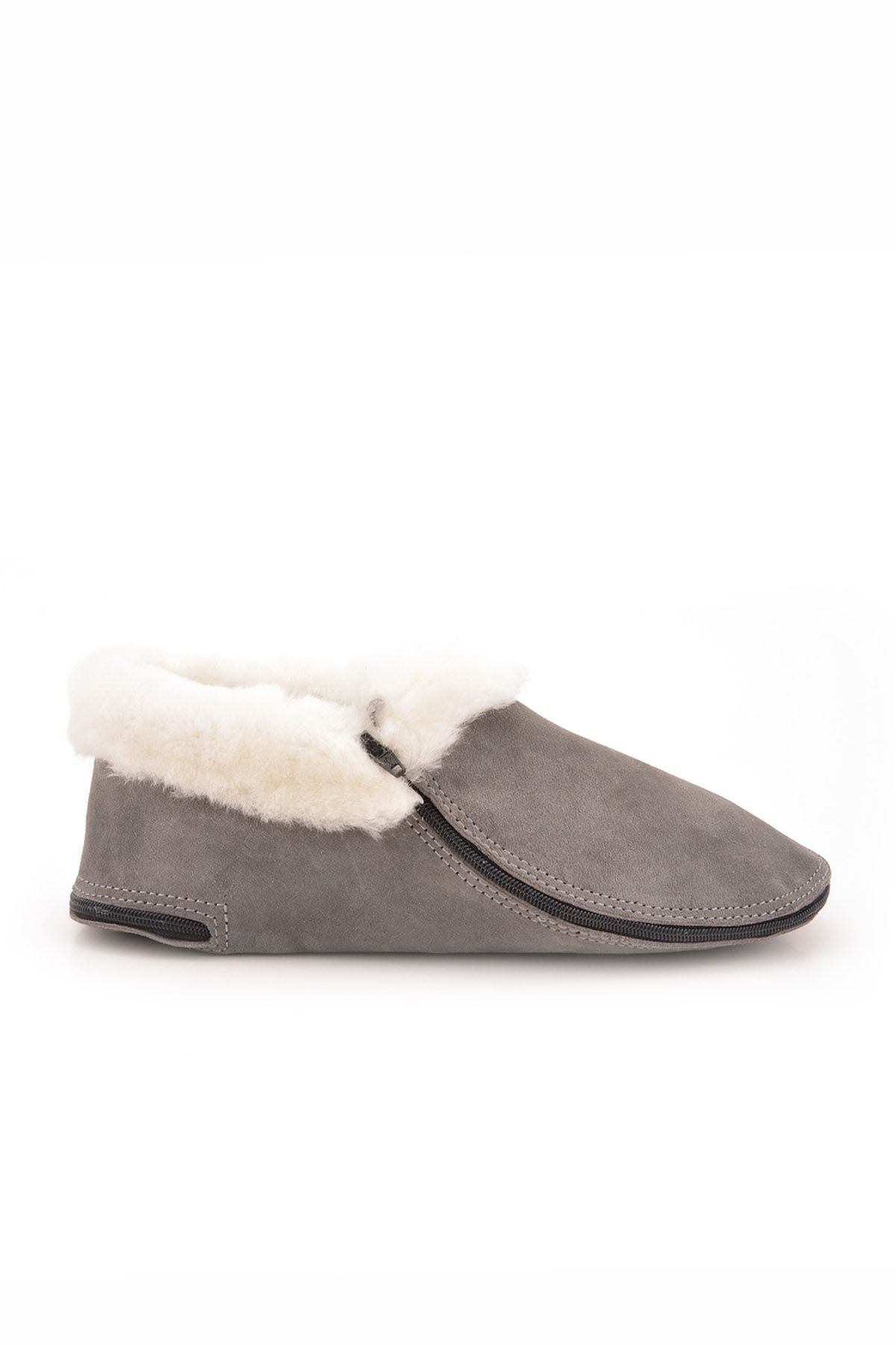 Pegia Kids Booties From Genuine Suede And Fur Gray