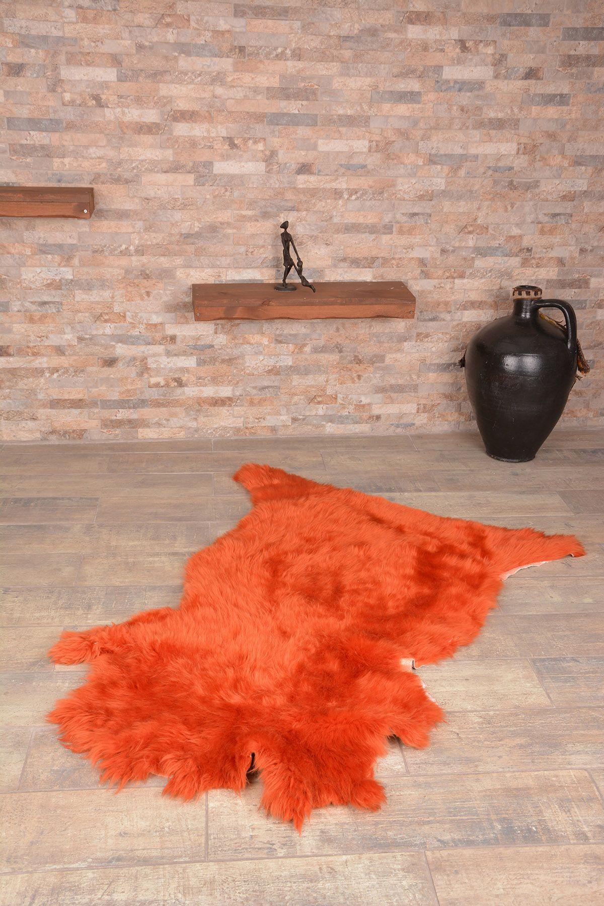 Erdogan Deri Декоративный Коврик Из Натуральной Овчины Оранжевый