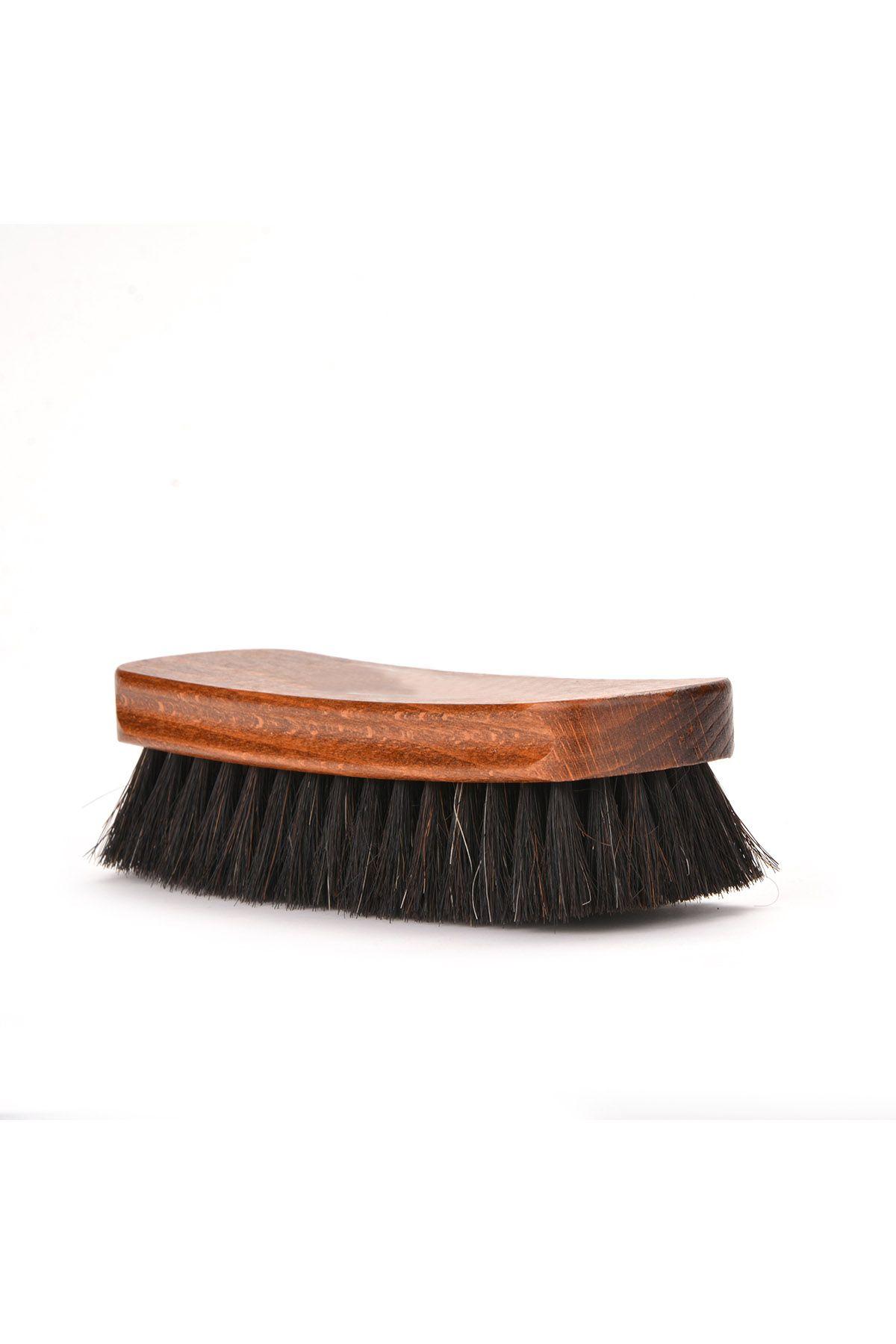 Erdogan Deri Blink Horse Hair Brush For Shoe Cleaning Black