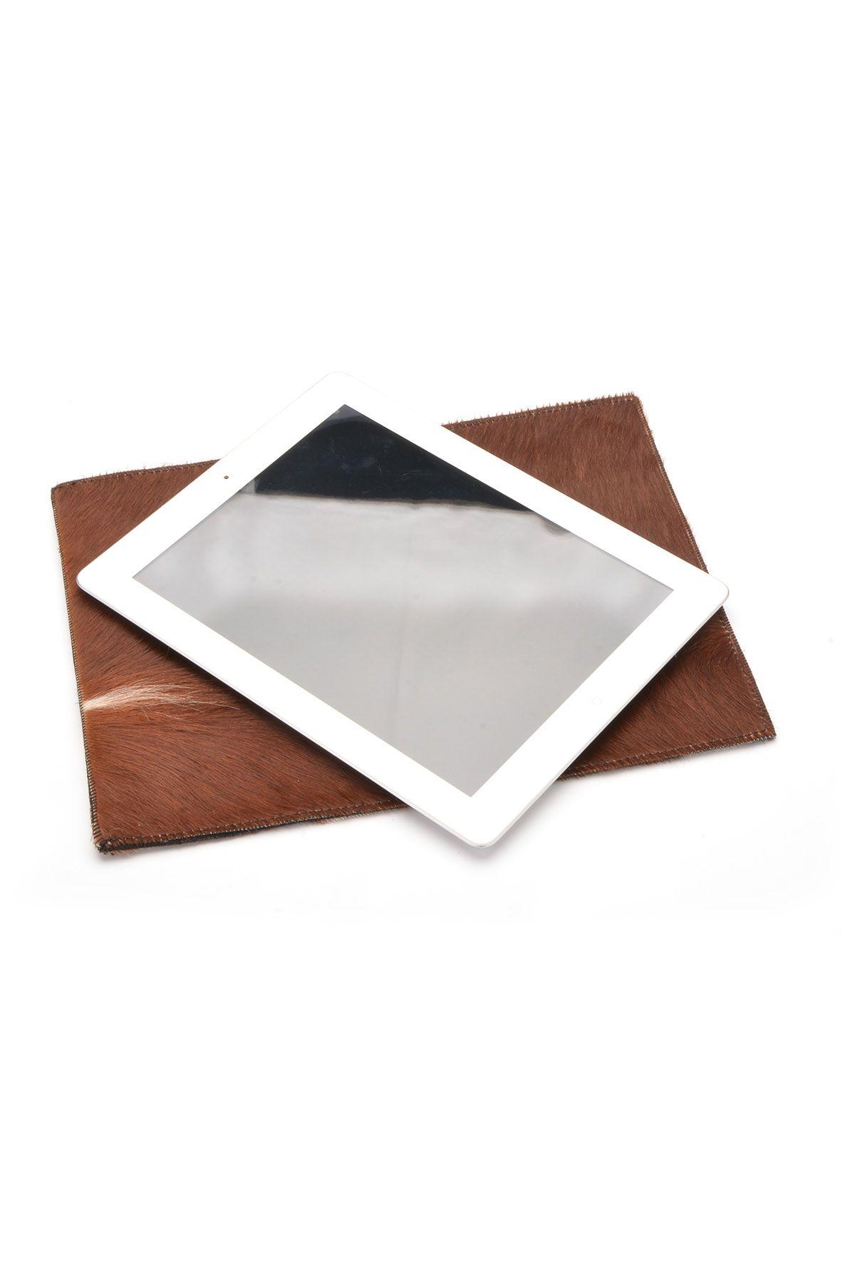 Pegia Hakiki Cavallino Deri Tablet Kılıfı 17AU03 Naturel