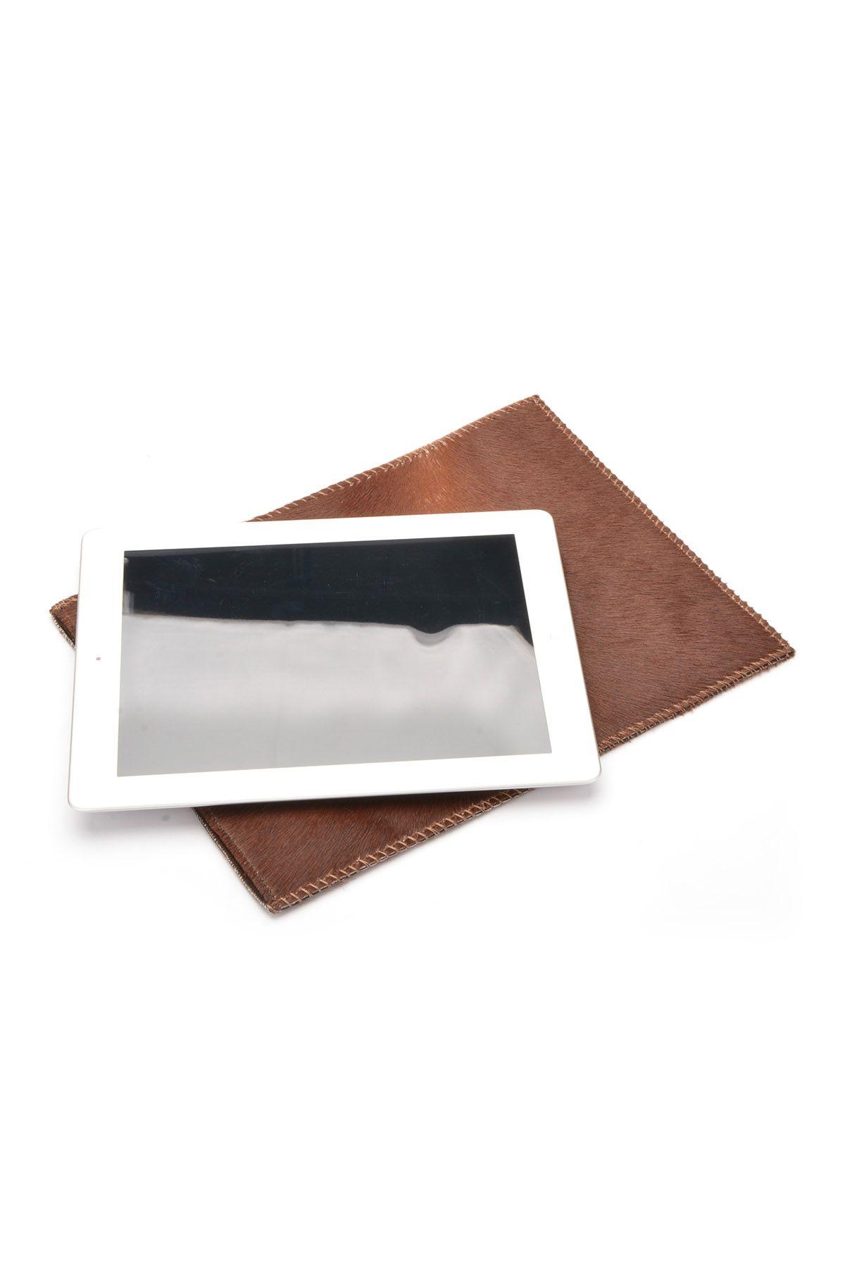 Pegia Hakiki Cavallino Deri Tablet Kılıfı 17AU03 Kahve