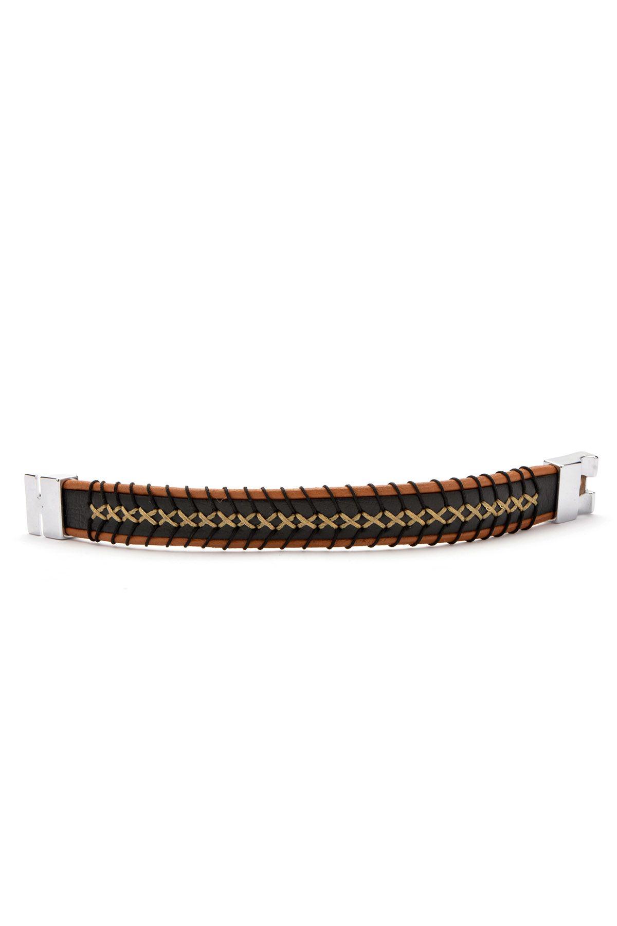 Erdogan Deri Unisex Leather Bangle 18BL01 Brown