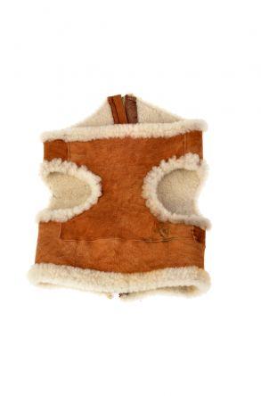 Pegia Dog Vest From Genuine Fur Ginger