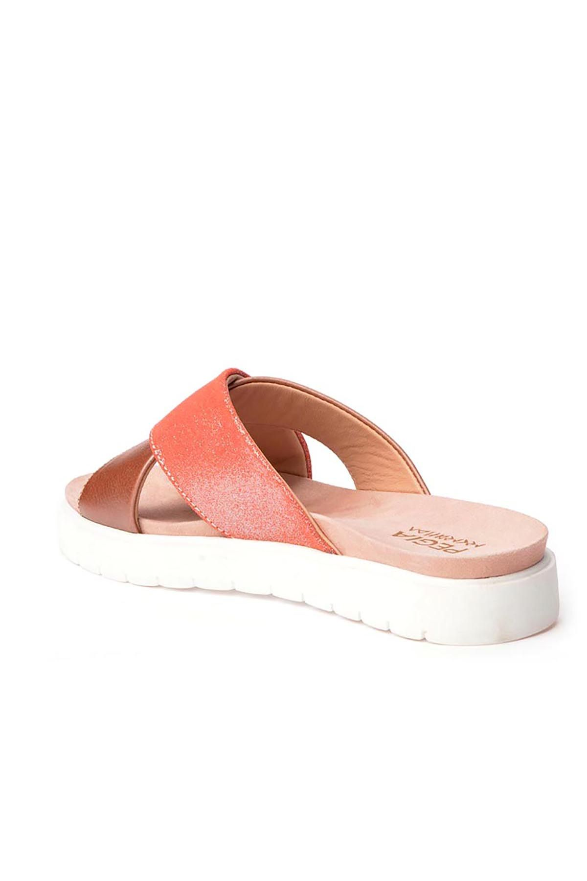 Pegia La Ferme Women Slippers From Genuine Leather REC-008 Pink