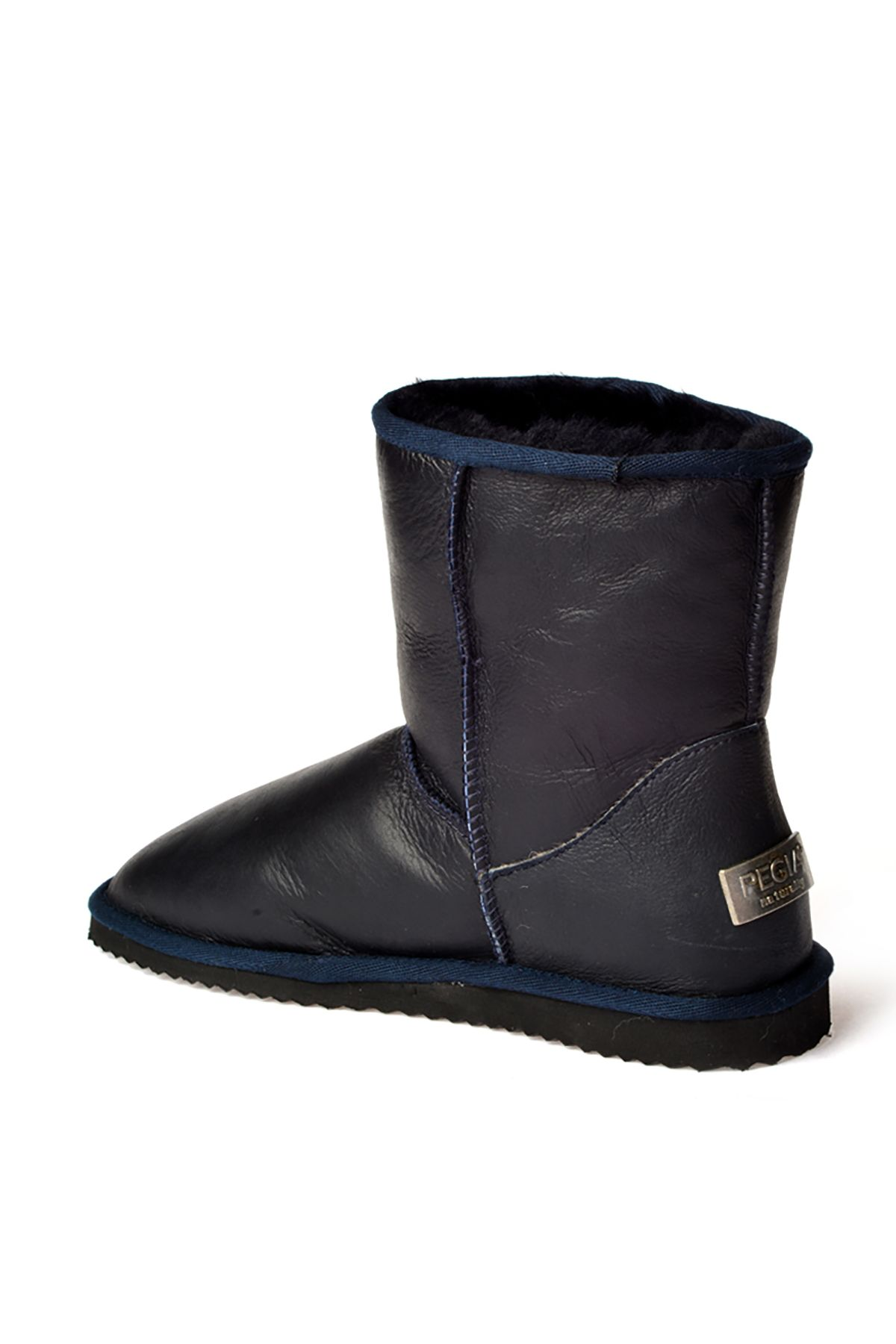 Pegia Classic Men Boots From Genuine Fur Navy blue