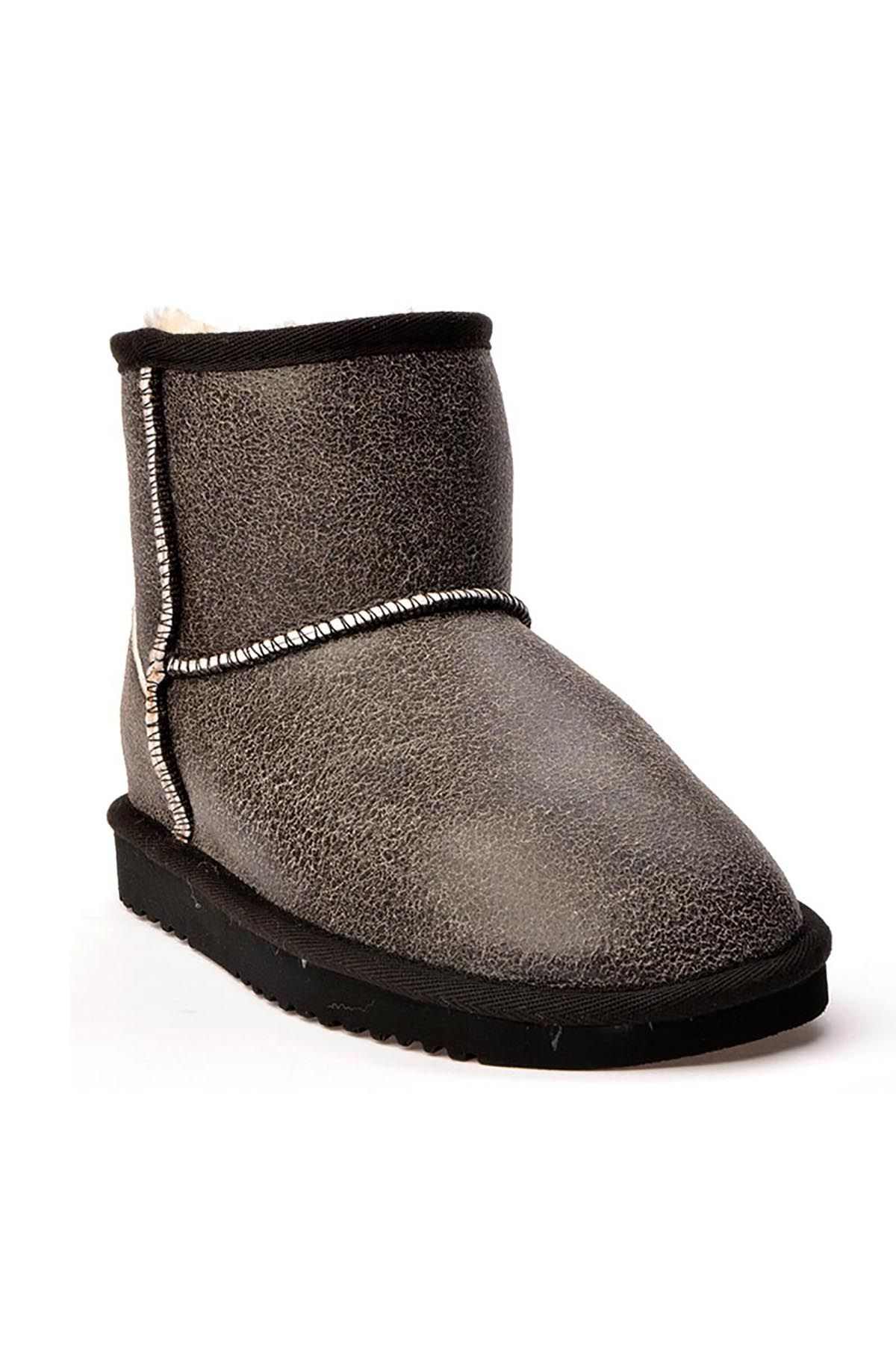 Cool Moon Women Boots From Genuine Fur 990246 Gray