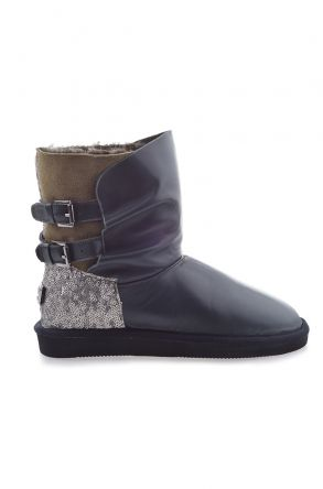 Pegia Women Boots From Genuine Fur Khaki