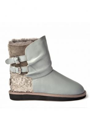 Pegia Women Boots From Genuine Fur Gray