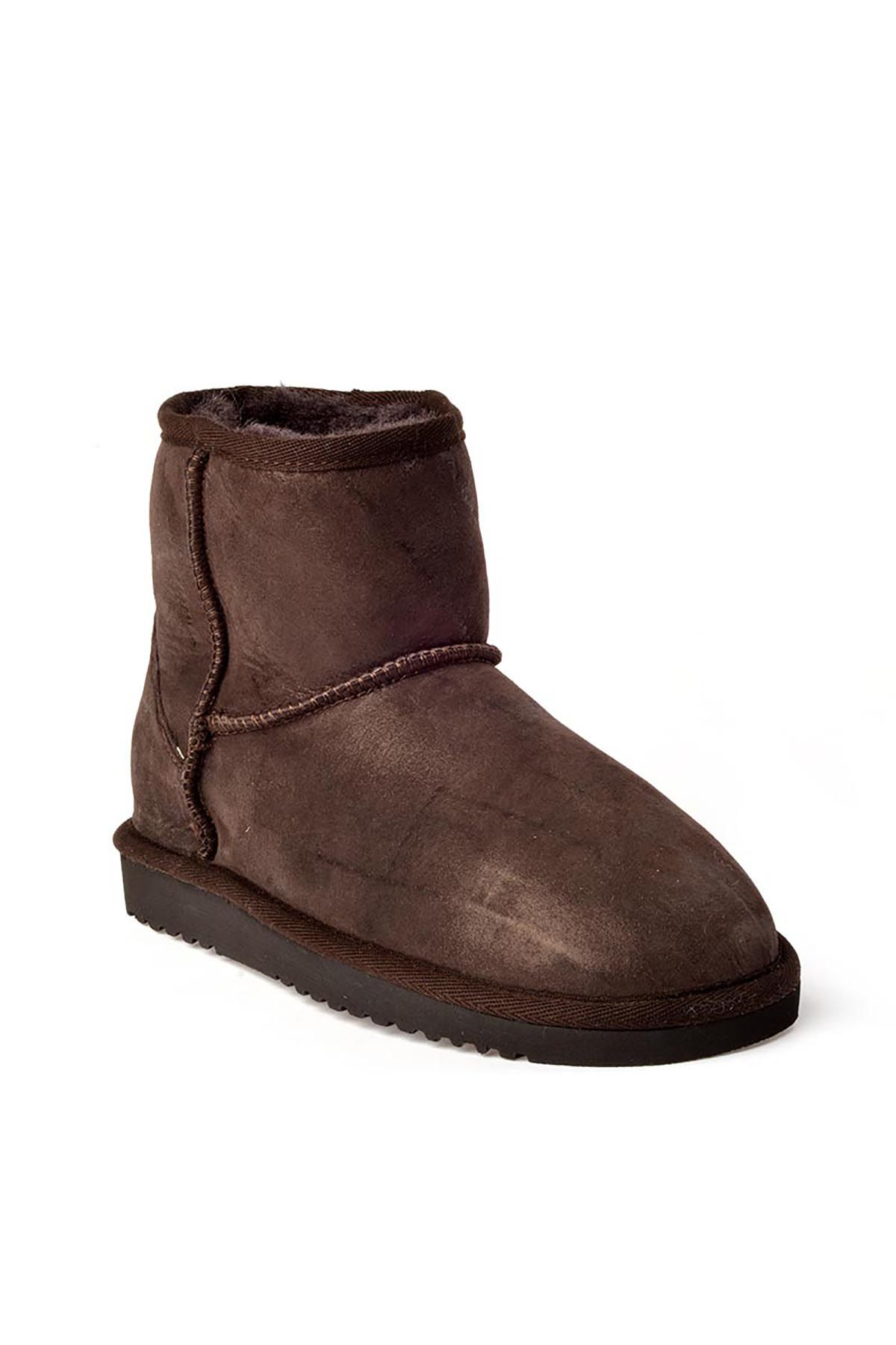 Cool Moon Women Boots From Genuine Fur 990168 Brown