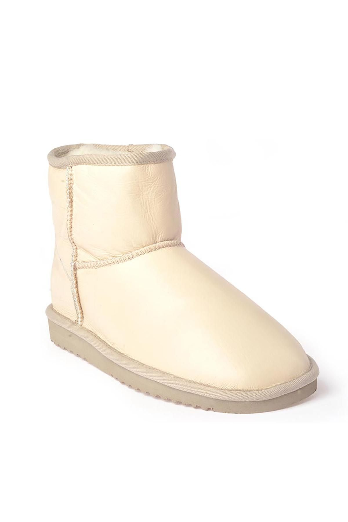 Cool Moon Women Boots From Genuine Fur Beige