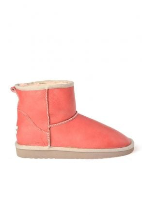 Cool Moon Women Boots From Genuine Fur 990182 Pomegranate