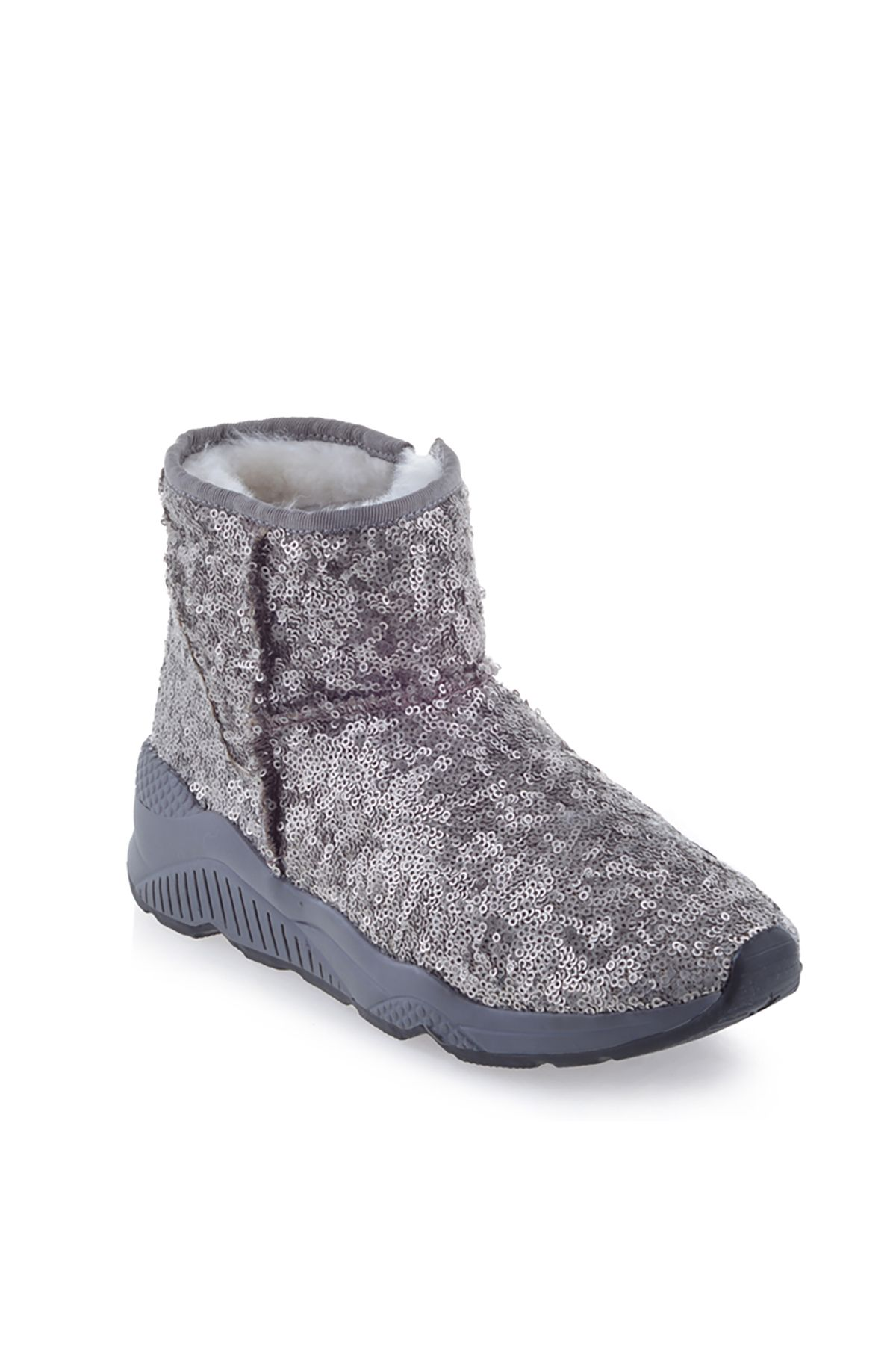 Pegia Women Boots From Genuine Suede And Fur With Side Zip 157805 Visone