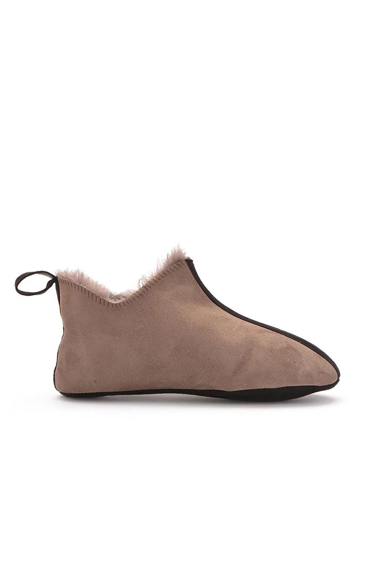 Pegia Kids House-Shoes From Genuine Fur Visone