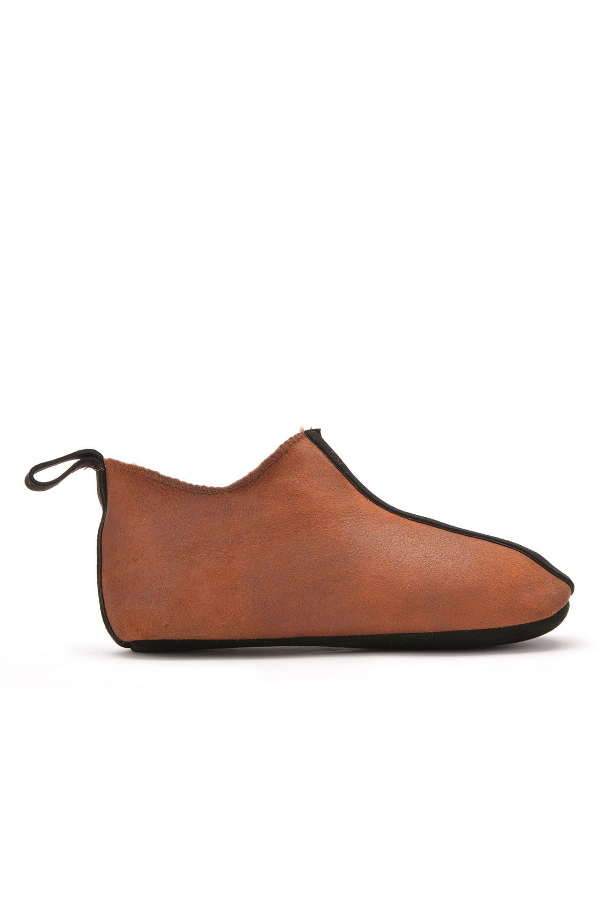 Pegia Kids House-Shoes From Genuine Fur Dark Brown