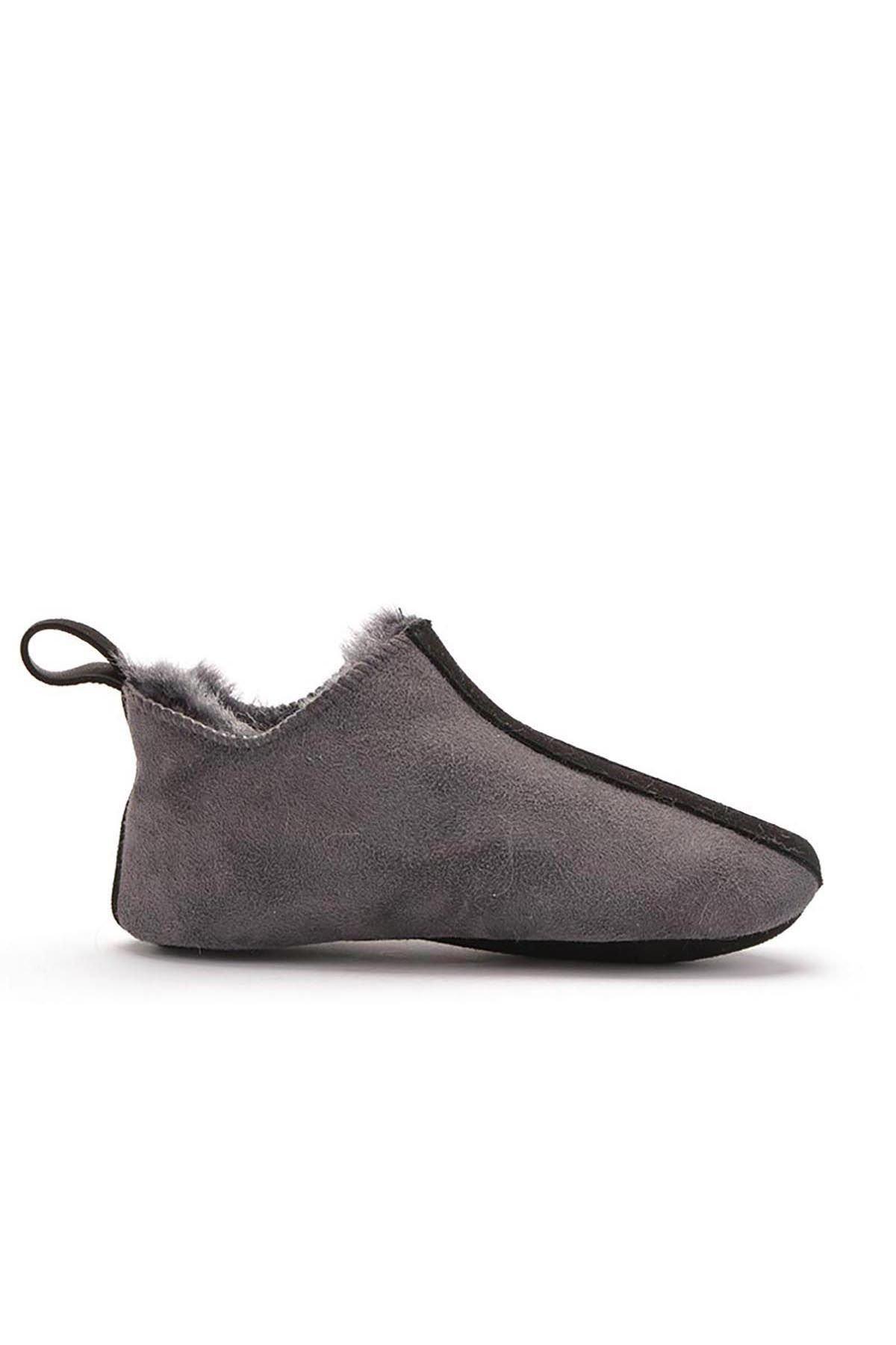 Pegia Детская Домашняя Обувь Из Натурального Меха Серый