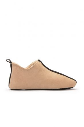 Pegia Kids House-Shoes From Genuine Fur Sand-colored
