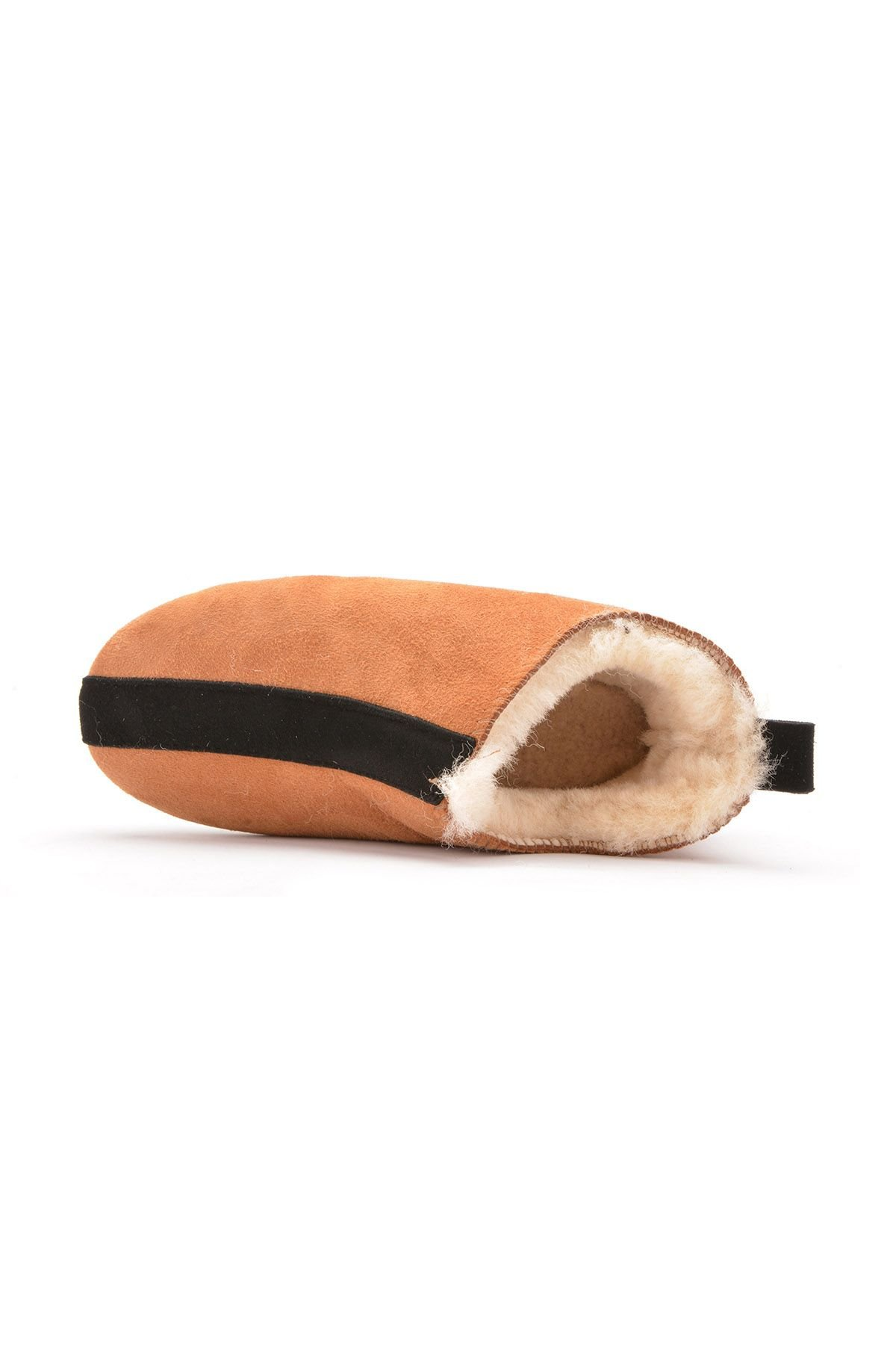 Pegia Kids House-Shoes From Genuine Fur Ginger