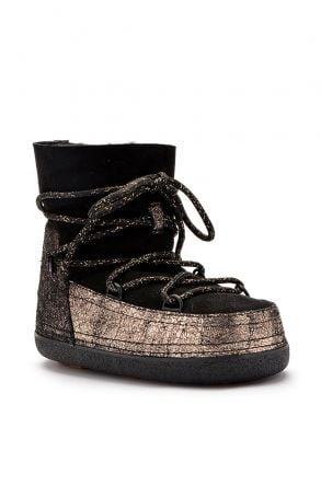 Cool Moon Women Snowboots From Genuine Fur Golden