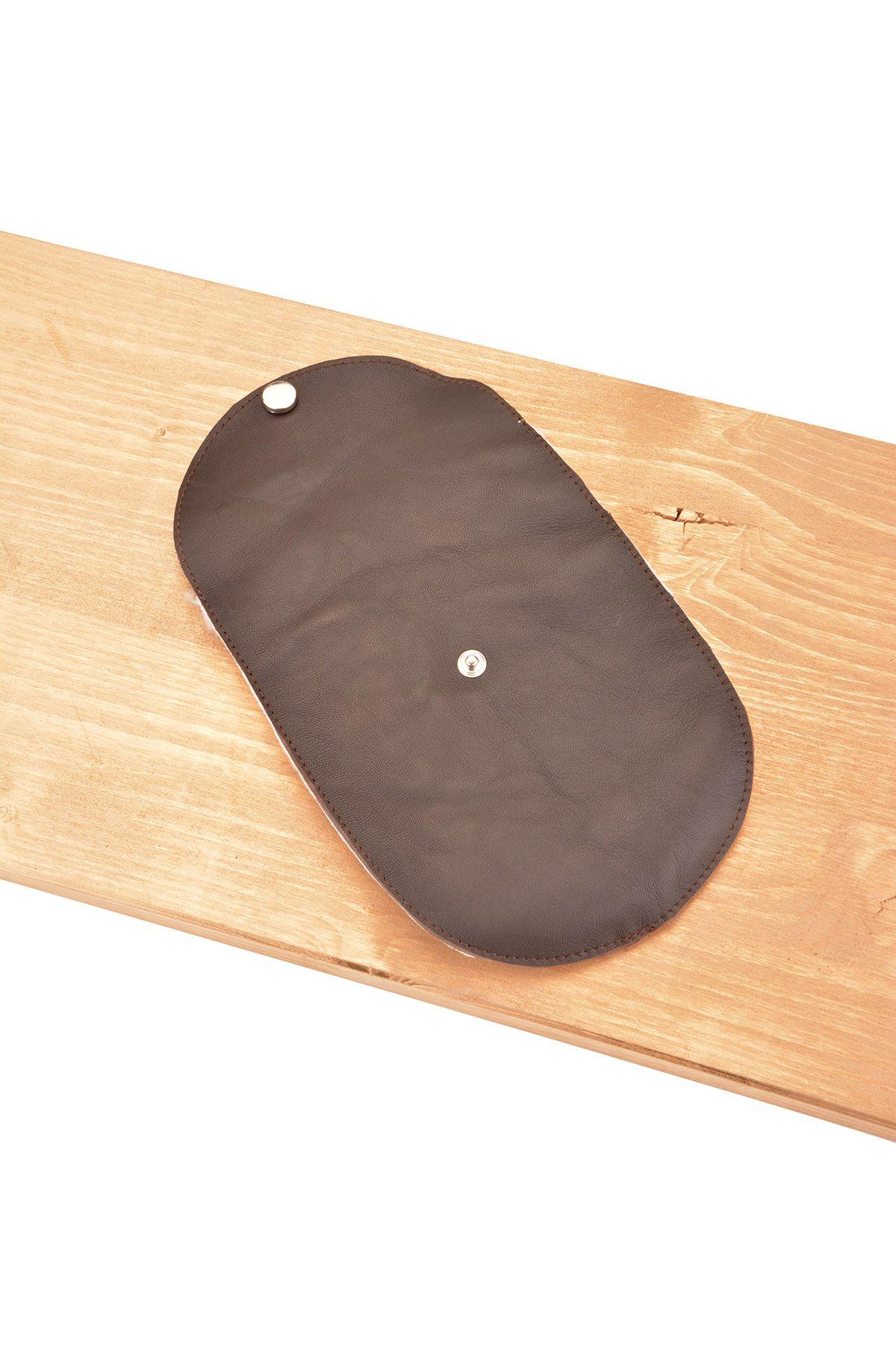 Pegia Аксессуар Из Натуральной Кожи Для Полировки Обуви Темно-коричневый