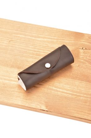 Pegia Leather Accessory For Shoe Polishing Dark Brown