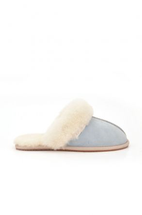 Pegia Unisex House-shoes From Genuine Fur Blue
