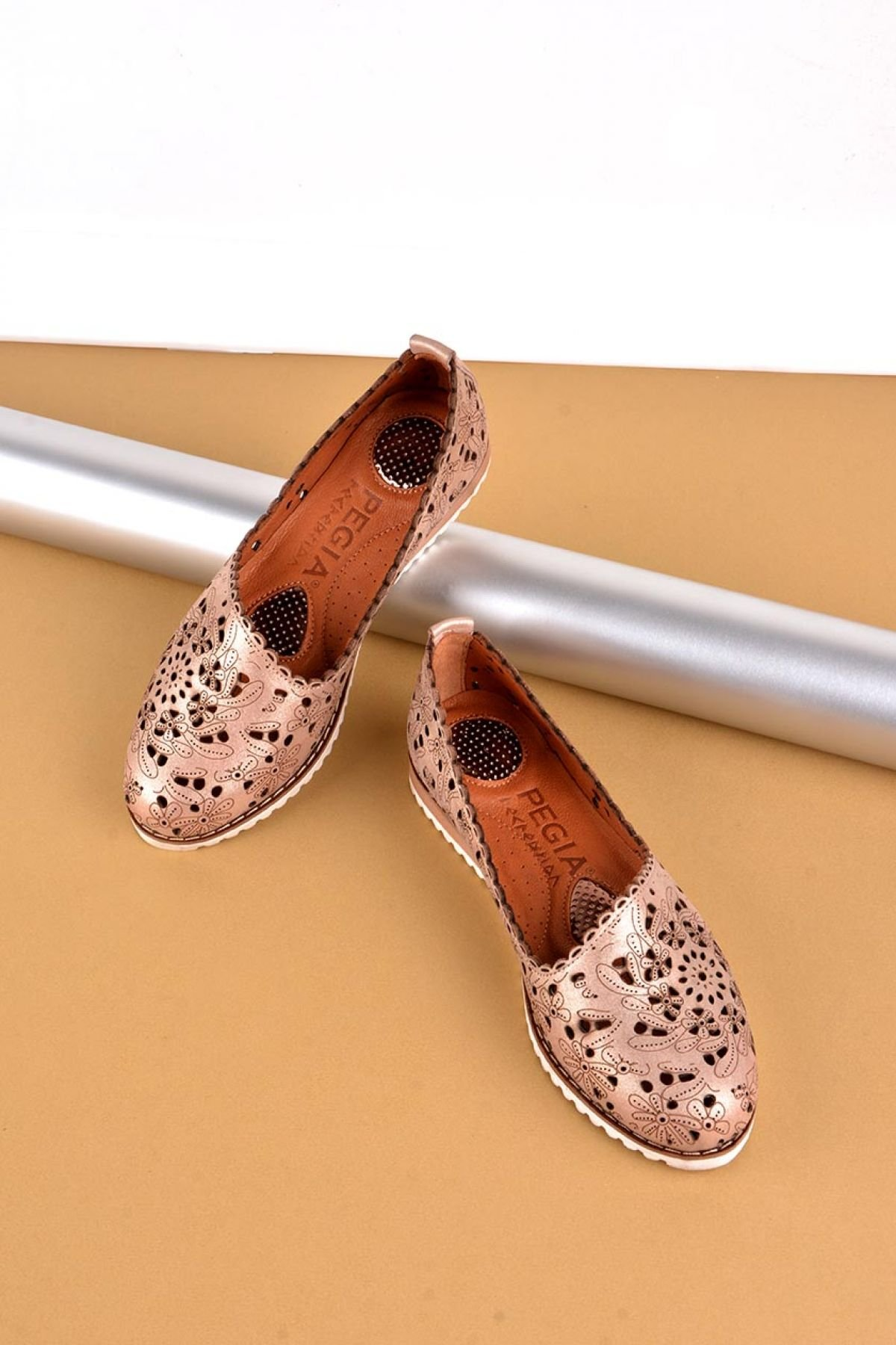 Pegia Women Shoes From Genuine Leather REC-141 Bronze
