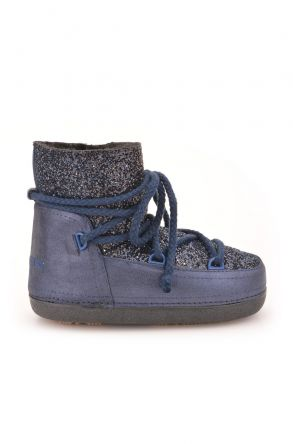 Cool Moon Women Snowboots From Genuine Fur With Sequins 251004 Navy blue