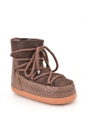 Cool Moon Moonboots From Genuine Sheepskin 251010 Brown