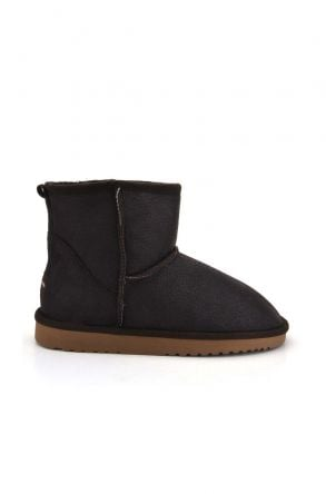 Cool Moon Women Boots From Genuine Sheepskin Fur 980179 Brown