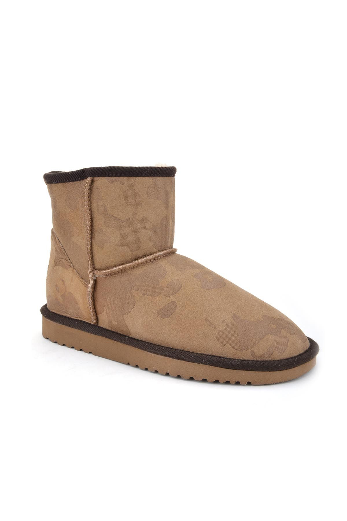 Cool Moon Women Boots From Genuine Sheepskin Fur 980326 Sand-colored