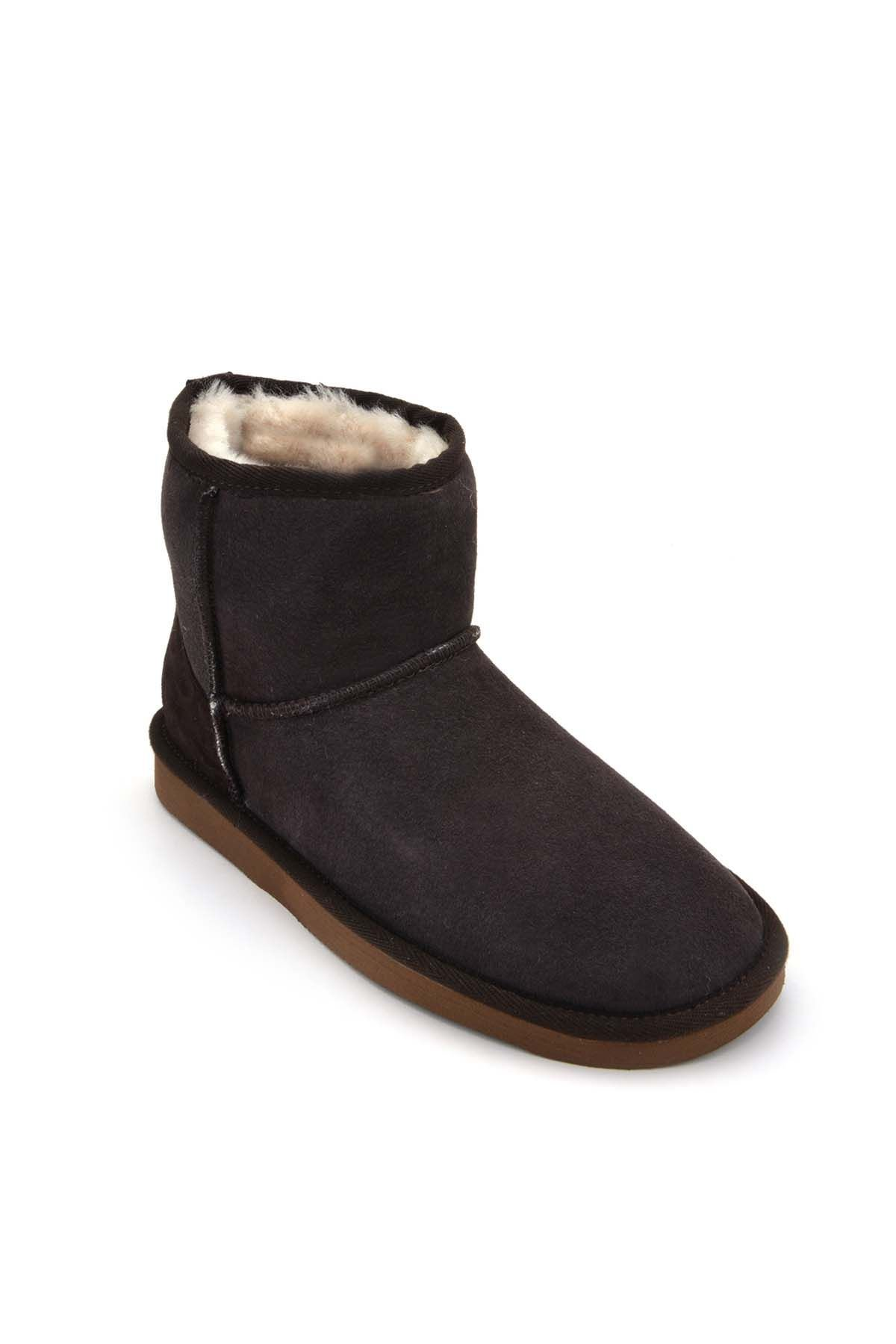 Cool Moon Women Boots From Genuine Sheepskin Fur 980335 Brown